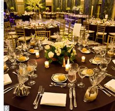 Brown Table Linens