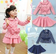 OH MY Goodness! This is totally different && I love it for Charity Baby Kids Coat Top+Skirt Dress 2 Piece Outfit Set Costume Beauty Clothing Girls Dress Up, Toddler Girl Dresses, Little Girl Dresses, Cute Girl Outfits, Girly Outfits, Kids Outfits, Little Girl Fashion, Kids Fashion, Kids Coats