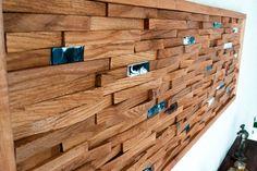 Aufgearbeiteten Holz Wandkunst Mosaik