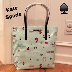 "NWT Kate Spade ""Daycation Bon Shopper Tote Stunning color and super fun bag. All information is in the 4th pic. Dual shoulder straps w/ 9.5"" drop. I only have one of these. Price firm!!! kate spade Bags Totes"
