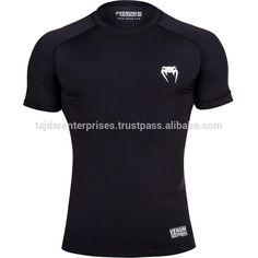Venum Contender 2.0 Compression Short Sleeve TShirt Top BJJ MMA Rash Guard Black #bjj_rash_guard, #black