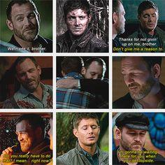 (gif set) Dean and Benny ||| Supernatural Season 8 OH GAWD THE FEELS /CRIES/