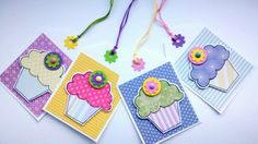 Cupcake Gift Tags  Spring  Set of four by CraftyMushroomCards