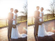 Bride | Groom | Lace Wedding Dress | Fine Art Wedding Photography by Kerry Bartlett | Somerset Photographer | Kingscote Barn Wedding Venue | Gloucester