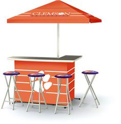 Clemson Tigers Portable Tailgate Bar Set $499.99 http://www.fansedge.com/Clemson-Tigers-Portable-Tailgate-Bar-Set-_2028614883_PD.html?social=pinterest_pfid23-48090