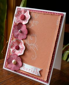 CC424 Coral Flowers by flaxychick - Cards and Paper Crafts at Splitcoaststampers