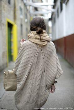 балахон-спинка - Теплые пальто, пончо, накидки - Галерея - Artzacepka форум