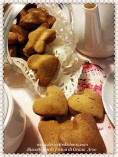 LE  RICETTE DI CHARA: Biscotti al grano Arso ( Μπισκότα με αλευρι ψημένο...