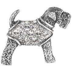 This antique-style Stanley the dog brooch adds the perfect finishing touch to any outfit!  And it looks like Archie.