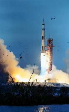 March 3, 1969: Launch of Apollo9 from KSC LC-39A carrying McDivitt, Scott, Schweickart, CSM Gumdrop & LM Spider.