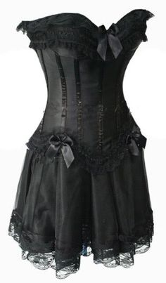 #gothic corset and attached skirt