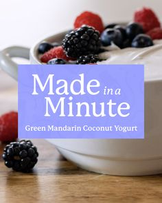 Making healthier snack choices doesn't mean they have to be boring or bland. In fact, we think that good-for-you options should taste as good as they make you feel! This recipe for coconut yogurt with Green Mandarin essential oil has plenty of flavor, loads of color, and a satisfying texture. And better yet, it's totally dairy-free. Doterra Essential Oils, Natural Essential Oils, Natural Oils, Doterra Blends, Cooking With Essential Oils, Coconut Yogurt, Coconut Recipes, Healthy Snacks, Dairy Free