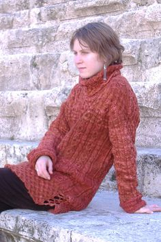 aran sweater from norsk stikkedesign. i always figured that if i were in mourning, i'd make something from this pattern book in honour of the person.