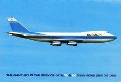 EL AL-Israel airlines Boeing B747 Postcard