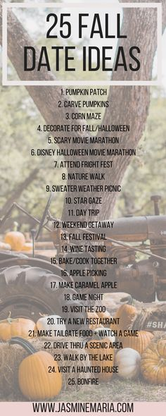 25 falldateideas dateideas falldate datenight fallactivities- 25 Fall Date Ideas