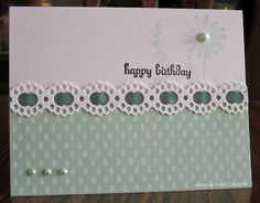 Our Little Inspirations: SCS Cards - nice ribbon & border use