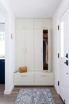 Updated Laguna Beach Home Interior Design Remodel - Kleiderschrank ideen Hallway Storage, Closet Storage, Tall Cabinet Storage, Kitchen Storage, Ikea Hallway, Ceiling Storage, Built In Storage, Bedroom Storage, Entry Closet