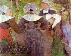 Les quatre bretonnes, Peinture de Paul Gauguin