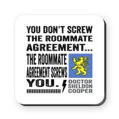 Sheldon Roommate Agreement Baseball Tee  Roommate Agreement
