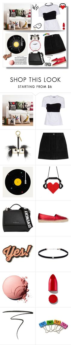 """""""Relax ✌️🎶❣💋"""" by selmendonca ❤ liked on Polyvore featuring MSGM, Fendi, rag & bone, Florent Bodart, Givenchy, Yves Saint Laurent, Music Notes, Anya Hindmarch, Carbon & Hyde and Rodin"""