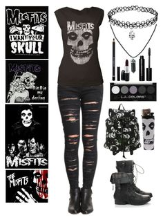 """The Misfits"" by insane-alice-madness ❤ liked on Polyvore featuring BLANKNYC, Bobbi Brown Cosmetics, Givenchy and MAC Cosmetics"