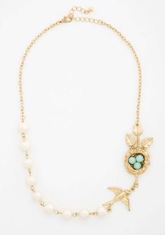 ModCloth | Nest Interest at Heart Necklace #modcloth #heart #necklace
