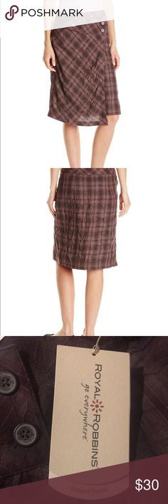e97570ef59 Royal Robbins crimped flannel skirt UPF 50+ Brand new with tags $70 Color:  Blackberry