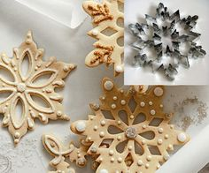 Snowflake Cookie Cutter  I would totally learn how to make cookies just to do these every year!!!