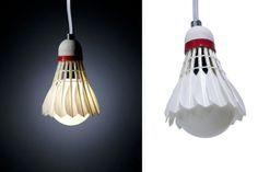 Shuttlecock Pendant Lamp ,Amazing Light #Bulb DIY and #Craft Projects