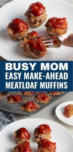 Mini Meatloaf Muffins have only 5 simple ingredients cook in 30 minutes can be made ahead and reheated and they are gluten free. KIDS LOVE THEM! Parmesan gives big salty and nutty flavor. Ketchup on top cooks down into a thick deep-flavored tangy Mini Meatloaf Muffins, Easy Meatloaf, Meatloaf Recipes, Yummy Appetizers, Appetizers For Party, Appetizer Recipes, Dinner Recipes, Homemade Ketchup Recipes, Meat Loaf