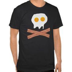 Funny Eggs Bacon Skull Tee Shirt