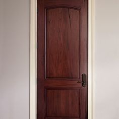 dark solid wood interior doors