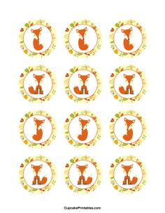 Fox Cupcake Toppers, more designs on this site! Can use for tags too