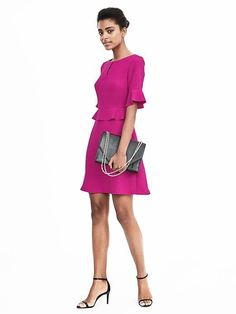 Banana Republic flounce dress. Love the style and color!