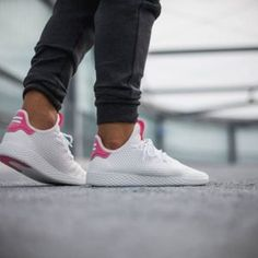 a9d68bba871cb4 Pharrell Williams x adidas Tennis HU Solar Pink