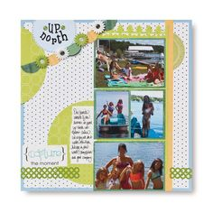 #scrapbooking Great layout using so many different items!