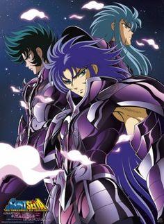 Saint Seiya - Capricorn Shura, Gemini Saga & Aquarius Camus