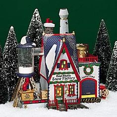 "Department 56: Products - ""Real Plastic Snow Factory"" - View Lighted Buildings"