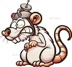 Buy Lab Rat by memoangeles on GraphicRiver. Vector clip art illustration with simple gradients. All in a single layer. Cartoon Rat, Cartoon Sketches, Cartoon Faces, Graffiti Doodles, Graffiti Drawing, Cool Art Drawings, Cute Coloring Pages, Animal Coloring Pages, Mouse Sketch