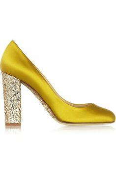 Satin and Glitter Heels