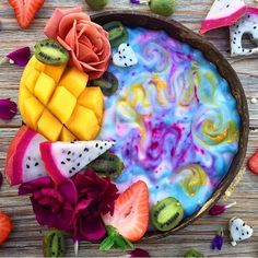 Rainbow swirl smoothie bowls for breaky @fitfoodiekae . What are you having for breakfast? Is it boosting your health for the day and making you feel energised? Why not try experimenting with our natural pigmented superfood powders ❤ . You can find all of our recipes on our website and watch our YouTube tutorials to create healthy recipes Shop our superfoods here: https://www.unicornsuperfoods.com/collections/all