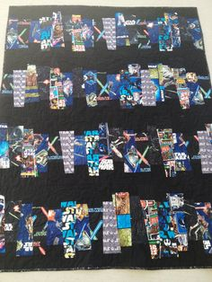 Classic Star Wars Handmade Throw Quilt by quiltyninja on Etsy, $145.00