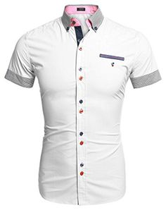 Coofandy Men's Turn Down Collar Dress Shirt Short Sleeve ... http://www.amazon.com/dp/B01DNAIL90/ref=cm_sw_r_pi_dp_xchixb0F2H4RV