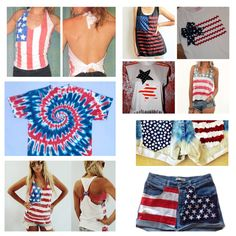 DIY Fourth of July clothing Ideas @Leslie Riemen Payne- for you and Libs perhaps??