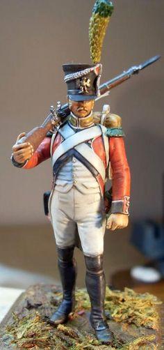 Voltigeur du 3e rйgiment d'infanterie suisse au service franзais, Premier Empire.