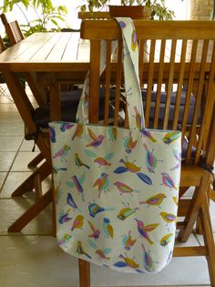 Tote bag / shopping bag Shopping Bag, Reusable Tote Bags, Needlepoint, Dressmaking, Manualidades, Shopping Bags