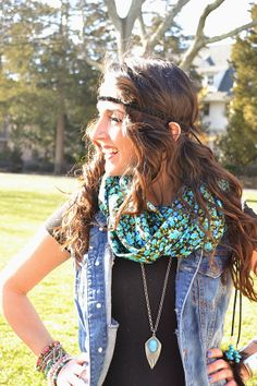 Boho Black Suede Braided Headband with Beads and by BizzyBCrafts