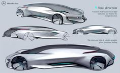 Mercedes Benz - Autonomous Luxury Sedan on Behance Car Design Sketch, Car Sketch, Super Sport Cars, Super Cars, Presentation Styles, Industrial Design Sketch, Audio Design, Car Drawings, Cool Sketches