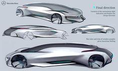 Mercedes Benz - Autonomous Luxury Sedan on Behance Car Design Sketch, Car Sketch, Super Sport Cars, Super Cars, Presentation Styles, Industrial Design Sketch, Car Drawings, Cool Sketches, Transportation Design