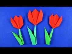 Květiny z papíru 🌷 Jak udělat tulipán z papíru - YouTube Diy And Crafts, Youtube, Art, Craft Art, Kunst, Gcse Art, Youtubers, Sanat